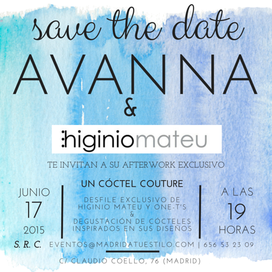 Save the Date Avanna higiniomateu y Madrid a tu estilo