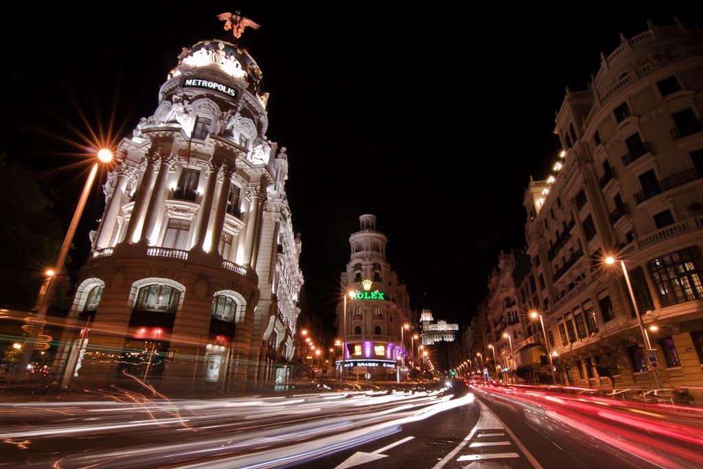 Gran Vía de noche. Sergio Garcia Murillo. Madrid a tu estilo