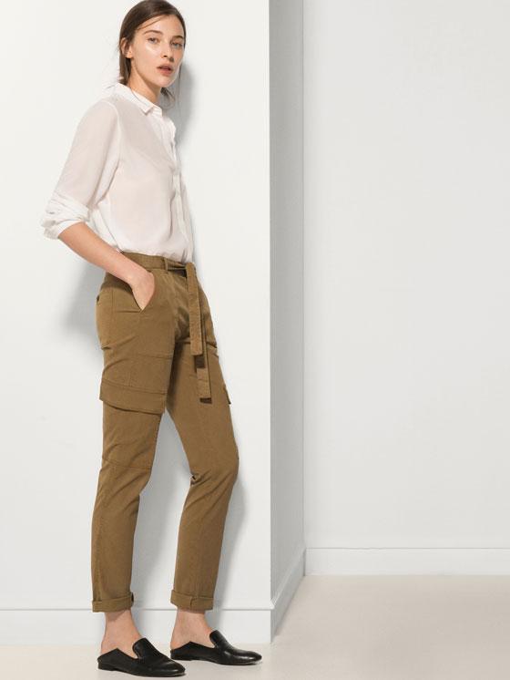 Pantalón cargo Massimo Dutti   Madrid a tu estilo